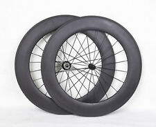 88mm Tubular Carbon Wheelset Road 3k Matt 700C Rim TT Bike Cycling Powerway Hub