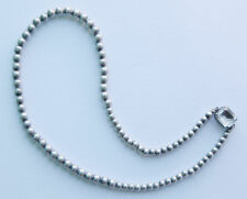 Gorgeous Antique sterling silver bold graduated beads chain necklace 19g