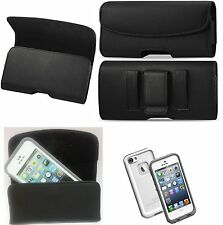 FOR SAMSUNG GALAXY NOTE 2/3 BELT CLIP LEATHER HOLSTER FITS A LIFEPROOF CASE ON