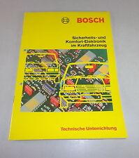 Technische Information Unterrichtung Bosch Sicherheits Komfort Elektronik im KFZ