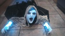 Halloween Lightening Reaper/Ghost/Light Up Eyes/Hands/Lights/Sound watch video