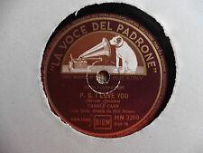 Carole Carrcon orchestra - Vaya con Dios / P.S. I love you - 78 giri