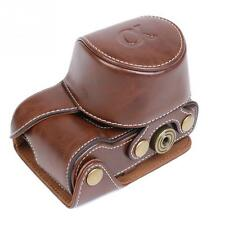 Brown Deluxe Leather Camera Case Bag Grip for Sony A5000 A5100 NEX 3N Camera