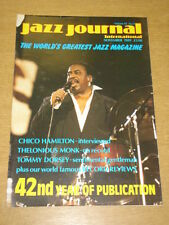 JAZZ JOURNAL INTERNATIONAL VOL 42 #11 1989 NOVEMBER CHICO HAMILTON THELONIOUS