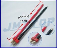 1 pcs Deans Style T Plug Male Connector Silicone Wire With 11.5CM 14awg F02105
