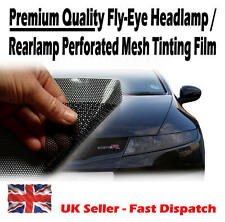 1 x A4 Sheet Black Tinting Perforated Mesh Film Like Fly-Eye MOT Legal Tint