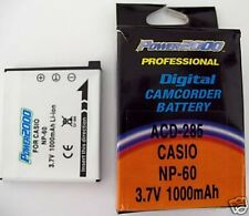 Battery 1000mAh for Casio NP-60 NP60 NP-60DBA NP60DBA