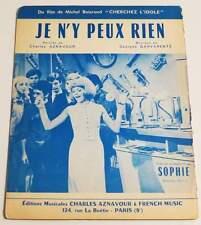 Partition sheet music SOPHIE : Je n'y Peux Rien * 60's AZNAVOUR GARVARENTZ