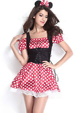 Minnie Mouse Red White Polka Dot Corset Dress Halloween Costume 8829 Medium