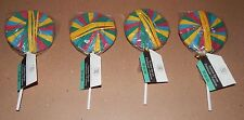 """Rubber Bands Lollipop Style 7"""" By Sabrina Soto 4 Packs 200 Total Bands Red 92Y"""