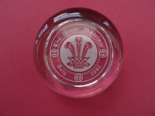 Royalty Paperweight Princess Diana Royal Marriage July 1981. Glass. 7cm diameter