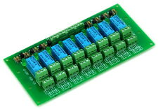 8 DPDT Signal Relay Module Board, DC24V Version, for PIC Arduino 8051 AVR MCU.