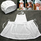 Cute White Baby Cook Costume Photos Photography Prop Newborn Infant Hat Apron