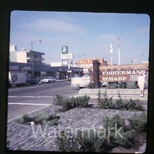 1966 Kodachrome photo slide San Francisco CA street scene TraveLodge Wax museum