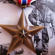 SCARCE 1944 WW2 BRONZE STAR GALLANTRY COMBAT MEDAL WITH V VALOR DEVICE ORDER