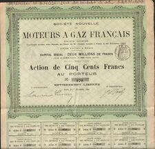 MOTEURS à GAZ FRANÇAIS 1889 (Q)