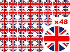 48 x 3cm Queens 90th 90 Birthday Union Jack Cup Cake Toppers Edible Rice Paper