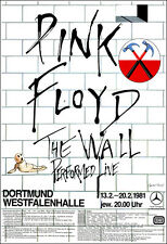 PINK FLOYD 1981  Germany The Wall Concert Poster