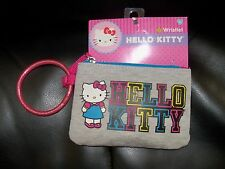SANRIO Hello Kitty Gray Wristlet NEW HTF