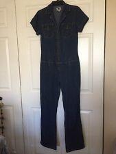 Vintage JEANS WESTJean Pant Jumpsuit WESTERN CHIC Unique ZIP UP HOT Juniors M