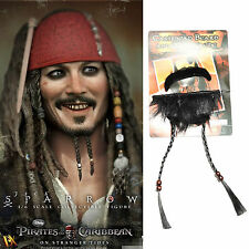 Pirates of the Caribbean Jack Sparrow Pirate Mustache Goatee Set Cosplay Party