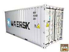 MAERSK Scale Container Box for 1/18 diecast model diorama (Silver)