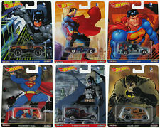 HOT WHEELS 2016 POP CULTURE DC COMICS BATMAN VS. SUPERMAN 6 CAR SET D CASE