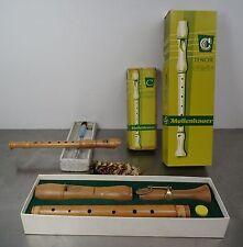2 ältere Blockflöten Flöte C  Mollenbauer Sopran + Tenor Birnbaumholz hell