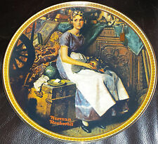 """NORMAN ROCKWELL'S """"DREAMING IN THE ATTIC"""" PLATE 1ST ISSUE """"REDISCOVERED WOMEN"""""""