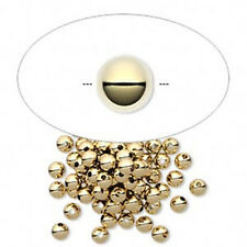 3mm Gold Filled Smooth Round Beads (100) Made in U.S.A.