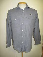 """Genuine Vintage Men's Lacoste Blue Cotton Shirt Long Sleeved Regular Fit 36-38"""""""