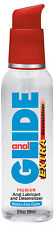 Body Action Anal Glide Extra Desensiziter Water Based Lubricant 2 oz