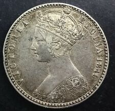Great Britain 1849 Godless Florin  Queen Victoria  Strong Details Nice Coin