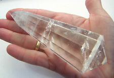 VOGEL 12 FACET NATURAL CLEAR QUARTZ CRYSTAL POINTED END USA 60g 90mm st7