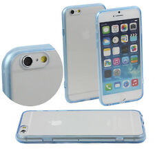 LIGHT BLUE iPHONE 6 APPLE 4.7 CASE HARD BACK CLEAR TPU SILICONE BUMPER COVER M46