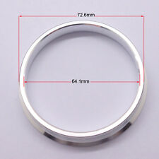 4pcs High Quality Aluminum Alloy Wheel Spacer Hub Centric Rings 72.6OD to 64.1ID
