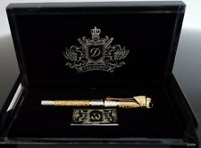 ST DUPONT WHITE KNIGHT PRESTIGE LIMITED EDITION ROLLERBALL PEN LACQUER GOLD RUBY