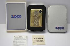 RARE 1996 Solid Brass Barefoot Trader Indian Zippo Lighter B133 New old stock