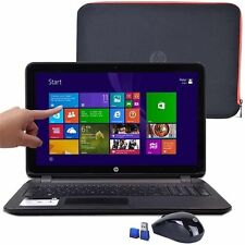 "New HP 15.6"" TouchScreen Laptop/Quad-Core/4GB/500GB/Window 8/DVD/HDMI/Case/Mouse"