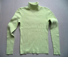 Womens GAP Turtleneck sweater Sz L  pullover top jersey ski snowboard rib knit
