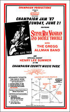 STEVIE RAY VAUGHAN GREGG ALLMAN 1987 Concert Poster Allman Brothers