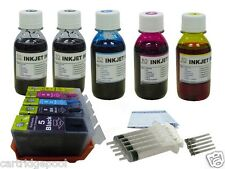 Refillable ink Cartridges for Canon PGI-5 CLI-8 MP800R MP810 MX850  +5x4oz/5s 1P