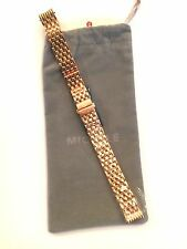MICHELE CSX 26 PETITE (ONLY) ROSE 12MM WATCH BRACELET  CURVED ENDS  DISCONTINUED