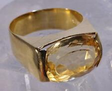 18 K Yellow Gold Citrine Ring Size 6.25