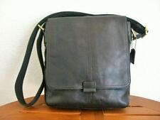 NWT- $198 Fossil Genuine Pebble Leather N/S Field City Bag - Black