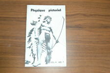 PHYSIQUE PICTORIAL VOL 8 #1 60s VINTAGE MAGAZINE BOYS ART BEEFCAKE GAY MALE NUDE