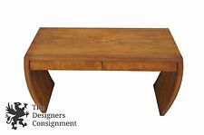 Vintage Drexel Heritage Maple Burlwood Chinoiserie Sofa Table Console Accent 47""