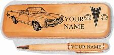 1966 Pontiac GTO Convertible Maple Pen & Case Engraved