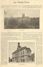 61 LA FERTE-MACE ARTICLE DE PRESSE PUBLICITE ETS GUILLAIS 1927