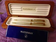 WATERMAN L`ETALON STERLING SILVER BALLPOINT PEN & 0.5  PENCIL SET   NEW IN BOX
